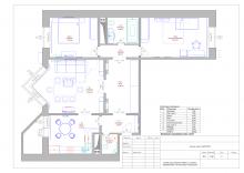 Схема расстановки мебели и оборудования. Экспликация помещений