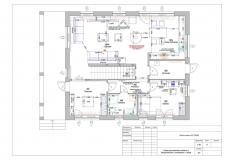 Схема расстановки мебели, сантехники, оборудования с размерами