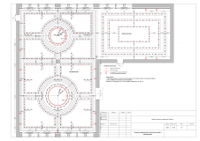 Схема размещения светильников с привязками