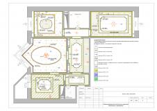 Схема размещения потолочных карнизов, молдингов, декоров